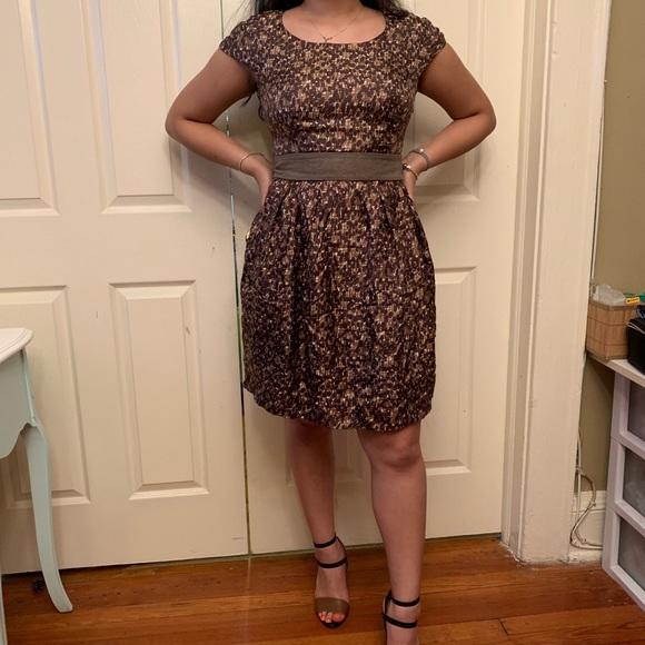 Tara Jarmon Dresses & Skirts - TARA JARMON Silk brown printed dress sz 42 NWOT